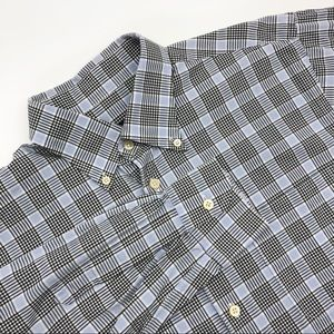 Scott Barber Long Sleeve Button Front Plaid Check